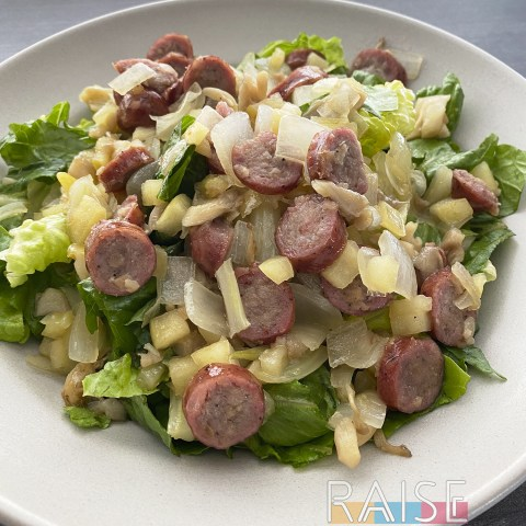 Gluten Free Apple & Breakfast Sausage Salad by The Allergy Chef