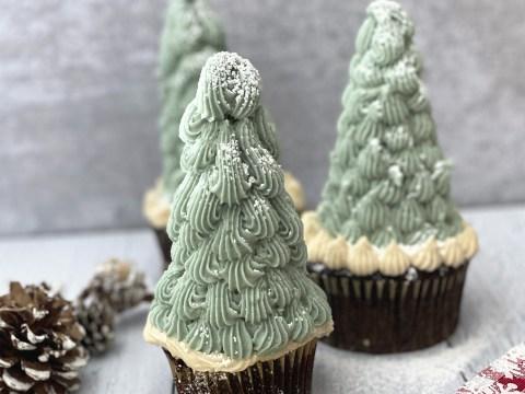 Gluten Free Vegan Christmas Tree Cupcakes