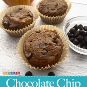 Gluten Free Vegan Pumpkin Chocolate Chip Muffins