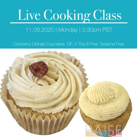 Live Cooking Class with The Allergy Chef: Cranberry Orange Cake