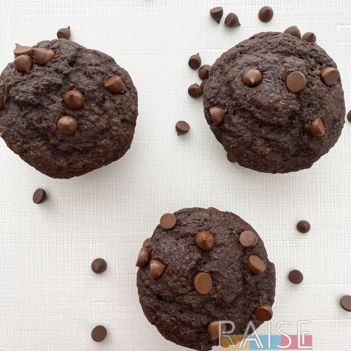 Gluten Free, Vegan Double Chocolate Muffin by The Allergy Chef