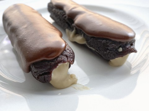Gluten Free, Vegan, Top 8 Free Mango Filled Eclair by The Allergy Chef