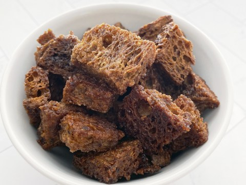 Gluten Free French Toast Croutons by The Allergy Chef