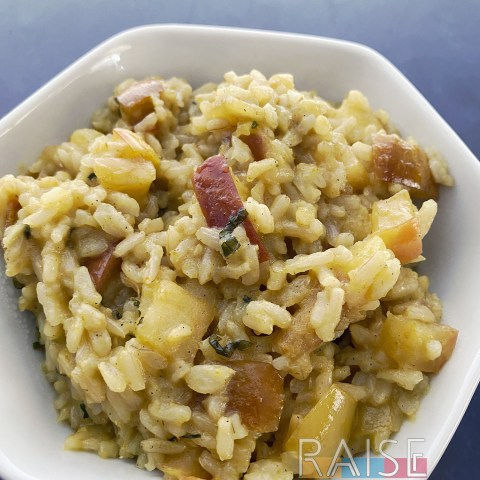Gluten Free Curried Apples and Rice by The Allergy Chef