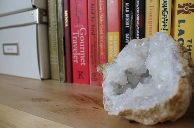 Break Your Own Geode Closeup Shelf Decor