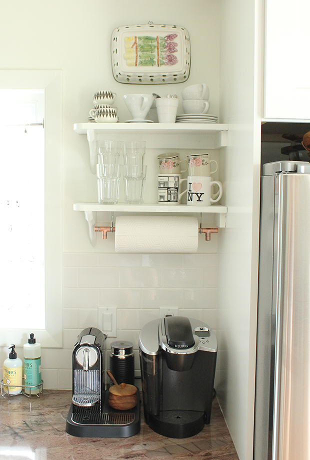 Raised by Design - DIY Copper Paper Towel Holder