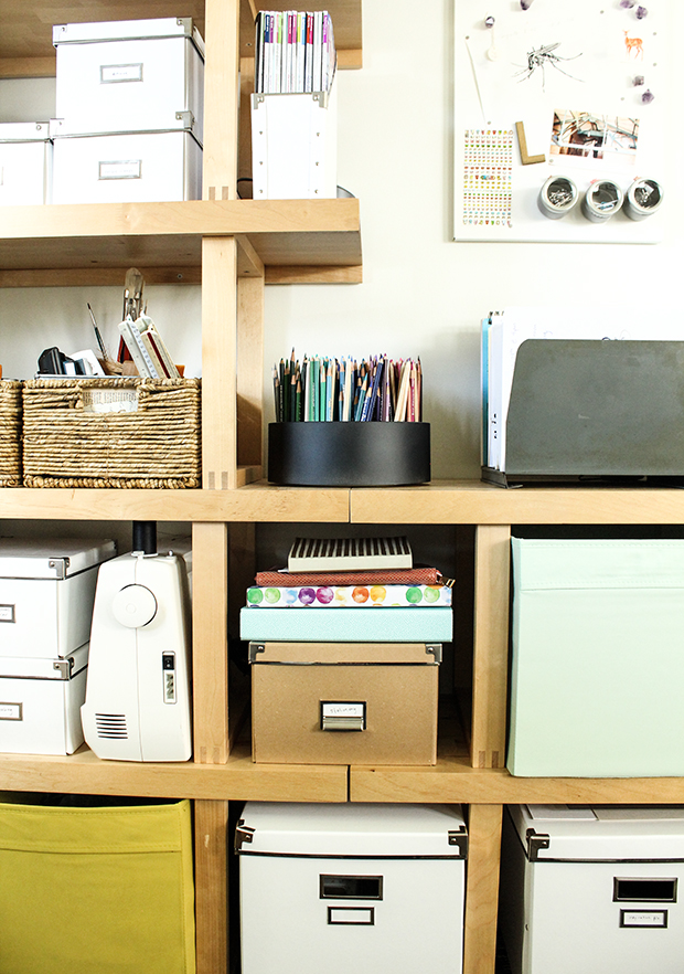 raised by design - office shelving