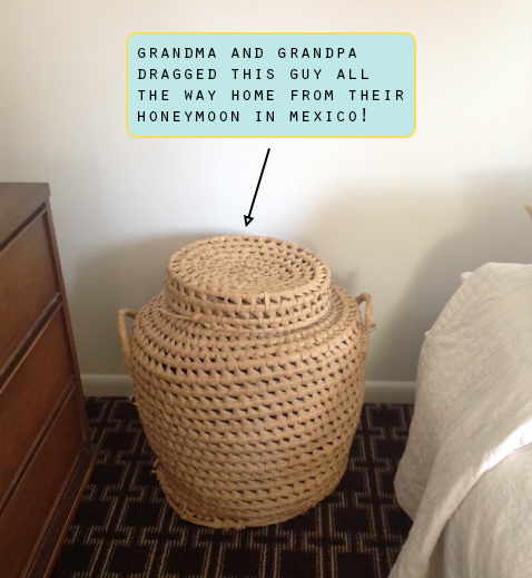 raised by design - honeymoon woven mexican basket