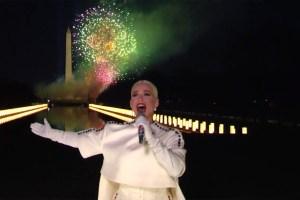 Katy Perry singing Firework in Celebrating America January 20 2021