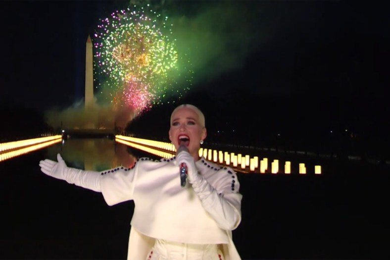Katy Perry singing Firework in Celebrating America January 20 2021