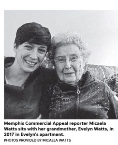 Memphis Commercial Appeal reporter Micaela Watts and her grandmother, Evelyn Watts