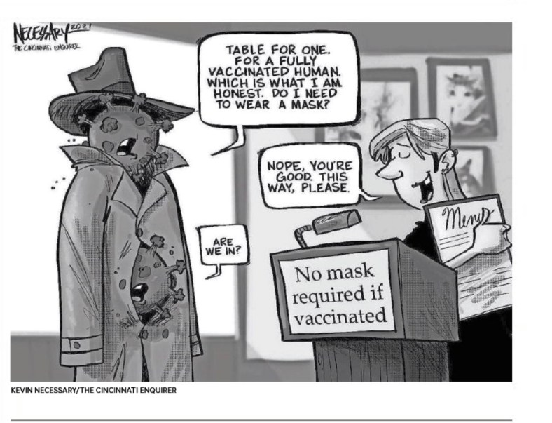 COVID-19 Op-ed Cartoon by Kevin Necessary, Cincinnati Enquirer