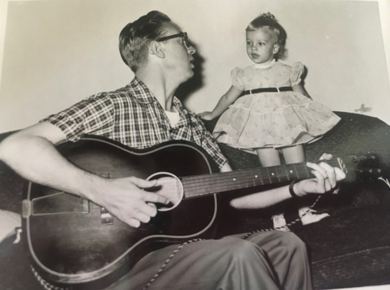 My father, Robert Amerson, and me singing in Caracas circa 1956