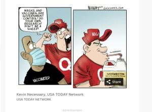 Kevin Necessary, political cartoon, USA Today Network