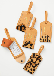 Monogram Leopard Luggage Tag