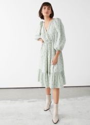 And Other Stories Voluminous Puff Sleve Midi Dress