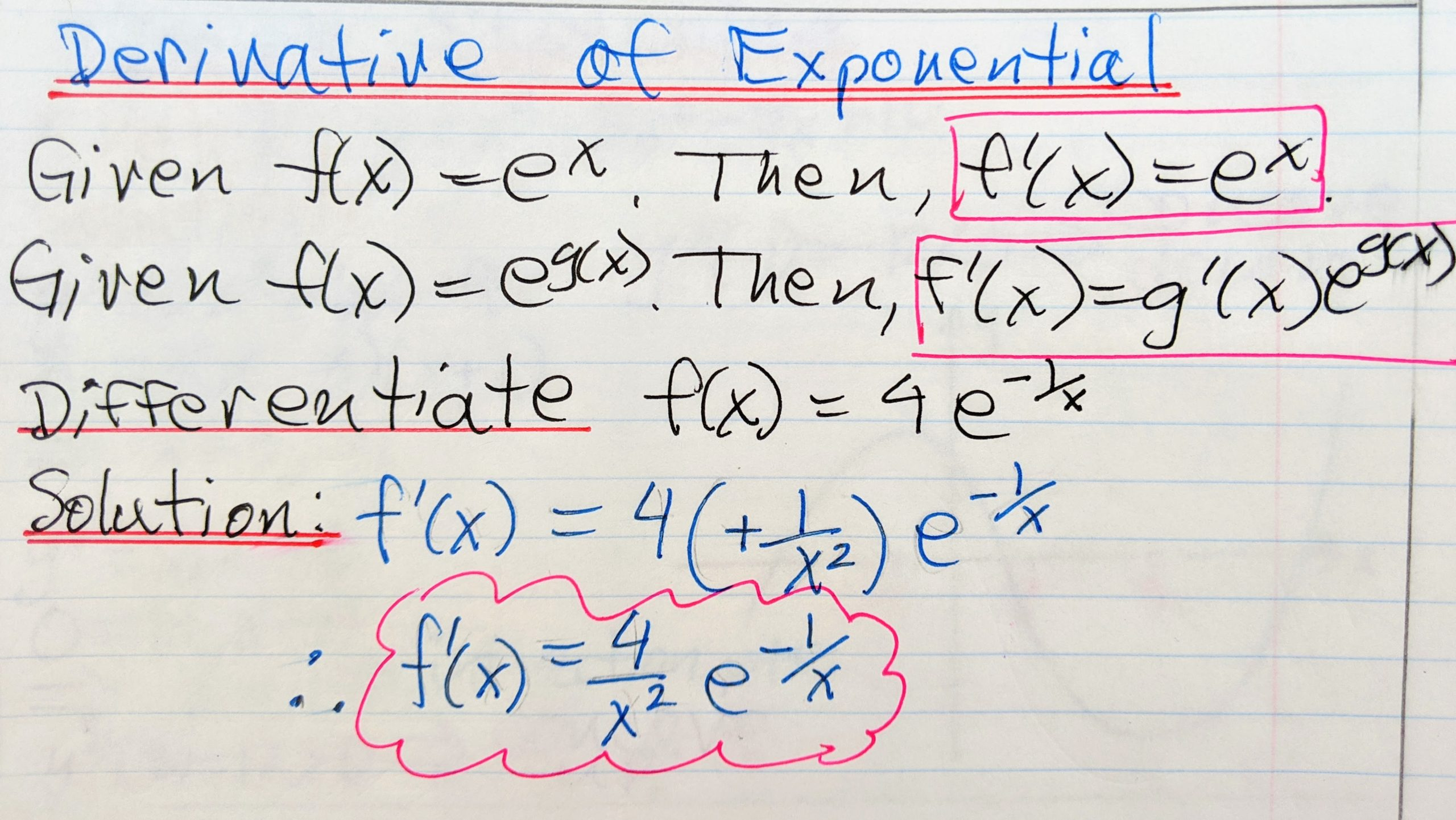 Derivative Of Exponential Function Archives
