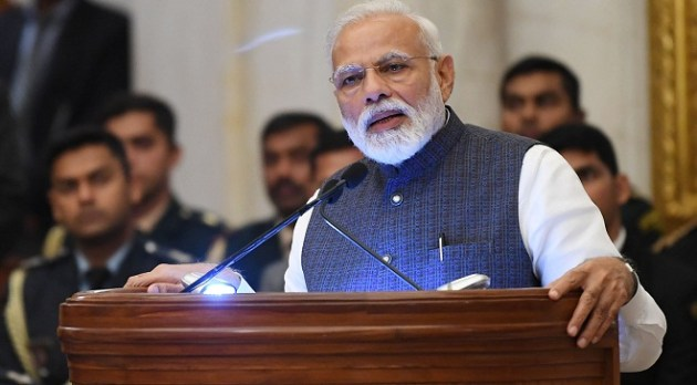 The Prime Minister, Shri Narendra Modi addressing at the presentation of the Gandhi Peace Prize for the years 2015, 2016, 2017 and 2018, at Rashtrapati Bhavan, in New Delhi on February 26, 2019.