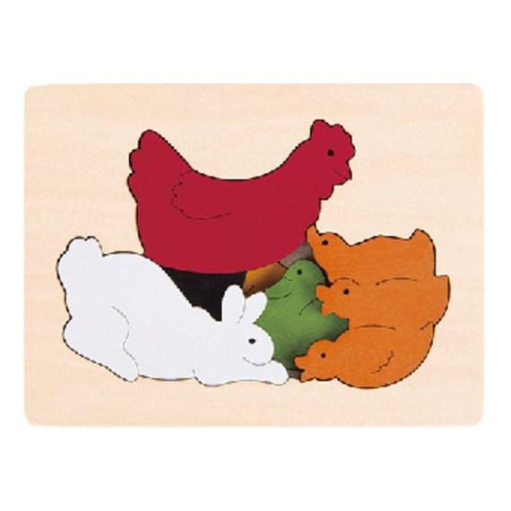 Kippen vormenpuzzel