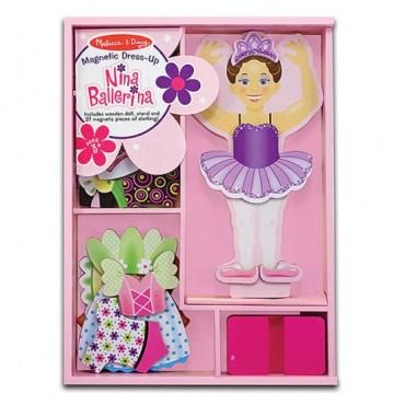 Houten aankleedpop Nina ballerina