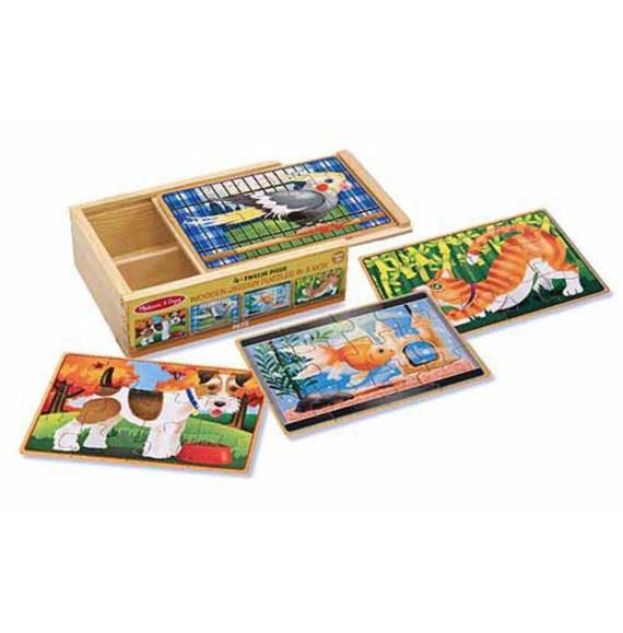Huisdieren puzzel set