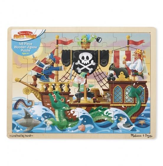 Houten piraten puzzel