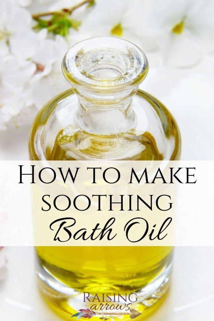 DIY soothing bath oil