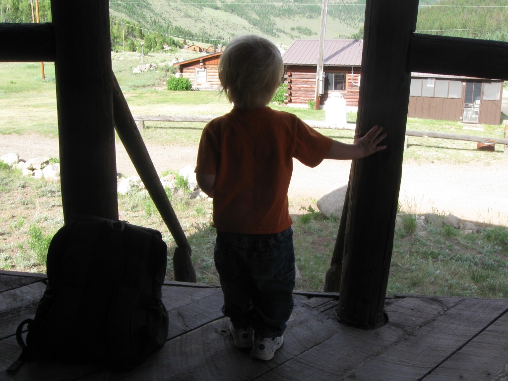 Micah looking out on the Colorado landscape