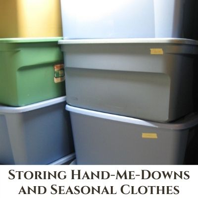 Storage for Seasonal Clothing and Hand-Me-Downs – Large Family Method