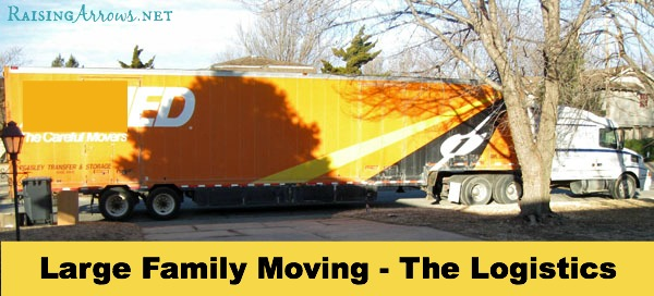 Large Family Moving Series {the logistics of the actual move} | RaisingArrows.net