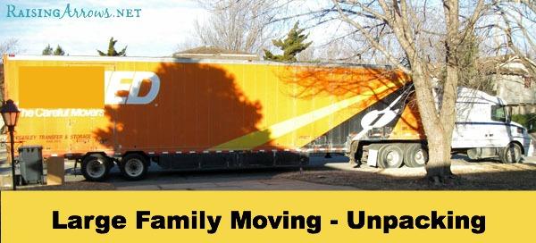 Large Family Moving Series {unpacking} | RaisingArrows.net