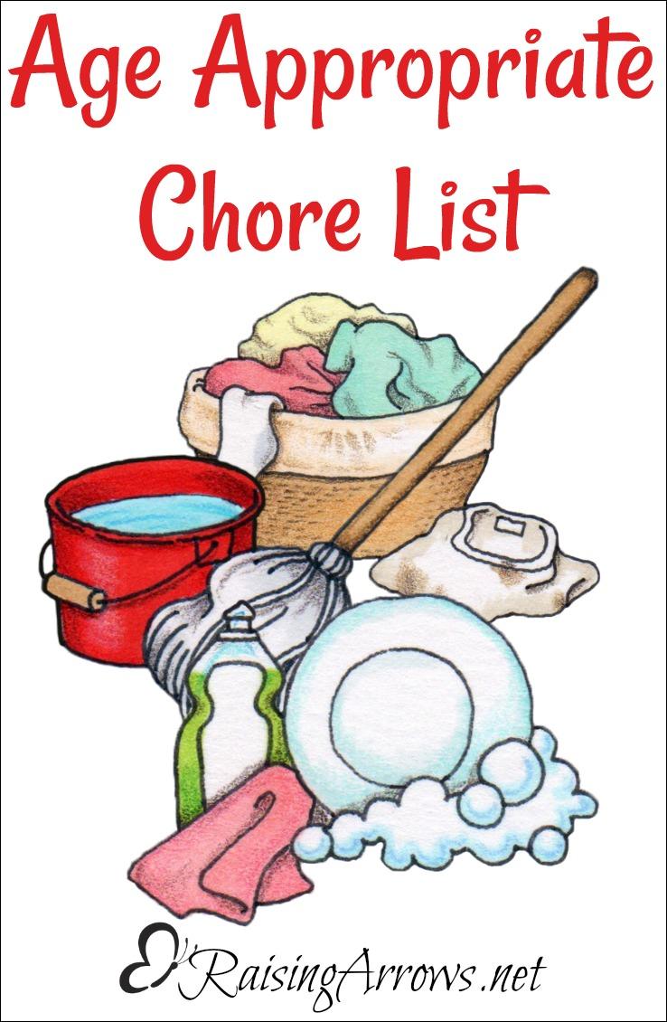 Age Appropriate Chore List