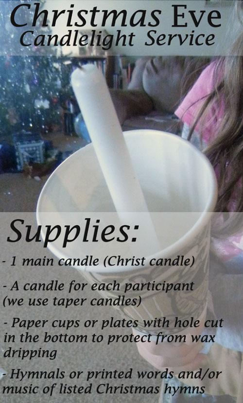 Christmas Eve Service Supply List
