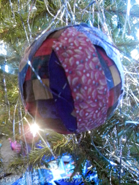 homemade fabric ornament