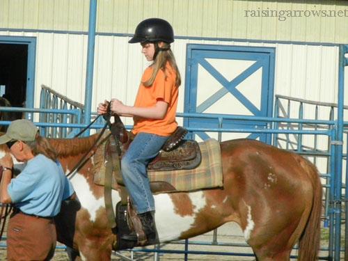 Meg riding