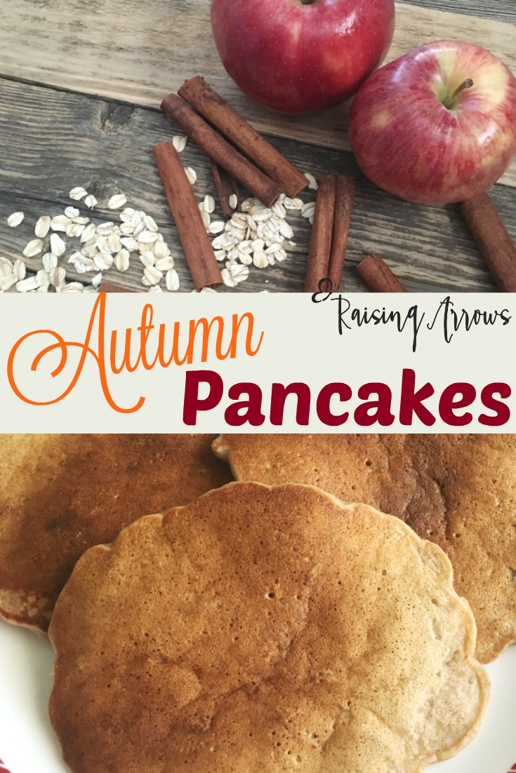 Apples, Cinnamon, & Oatmeal make these Autumn Pancakes a First Day of Fall tradition!