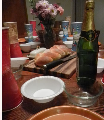 medieval feast table