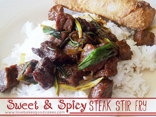 Sweet Spicy Steak Stir Fry