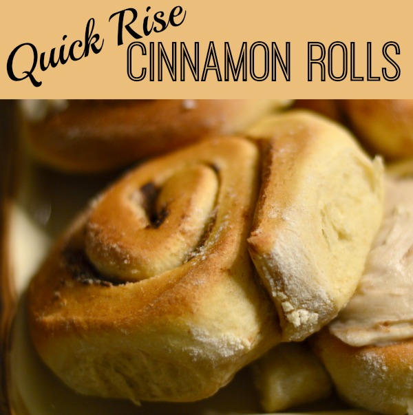 The Quick Rise Cinnamon Rolls will be done in a jiffy - eat 'em hot with our without frosting, have 'em for breakfast, lunch, or dinner!