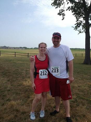 Jamie after running 10K