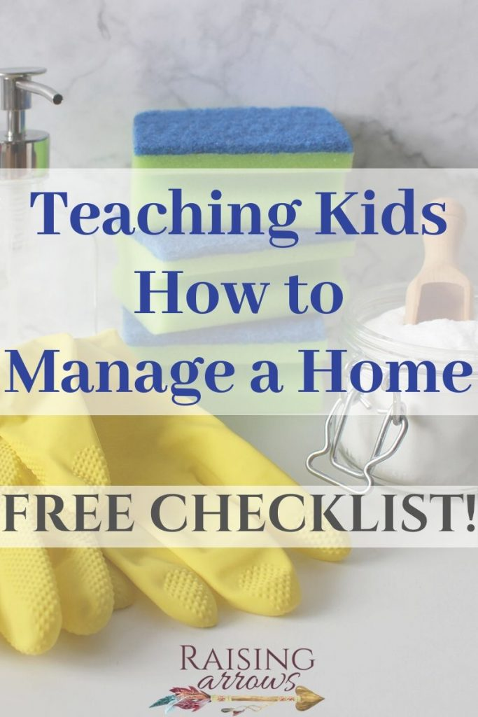 Use this checklist to help teach your children the things they need to know about running their own home someday!