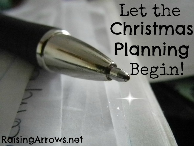 Let the Christmas Planning Begin!