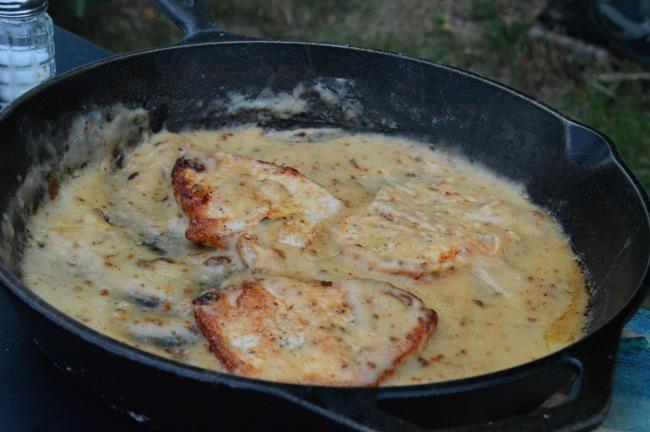 campfire pork chops