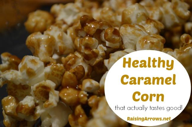 Healthy Caramel Corn {that actually tastes good!}