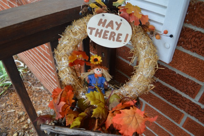 hay there wreath