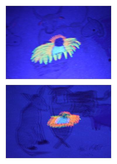 Gift of Love Art Lesson with black light reveal!   RaisingArrows.net