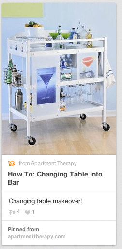 cart from a changing table