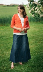 Rainbow Maternity Skirt - Celebrating Pregnancy Month by Month - Month 6