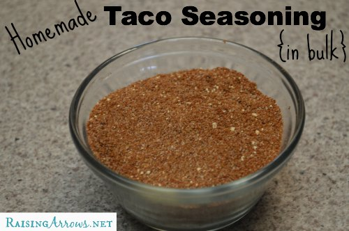Homemade Taco Seasoning {in bulk} | RaisingArrows.net