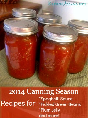 2014 Canning Season Recipes